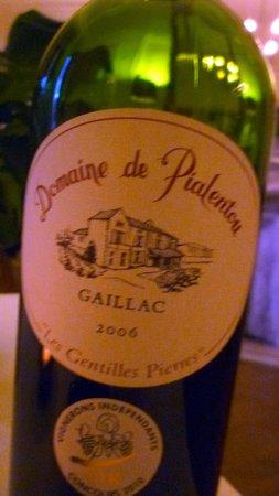 La Villa De Mazamet : Vin du Gaillac.