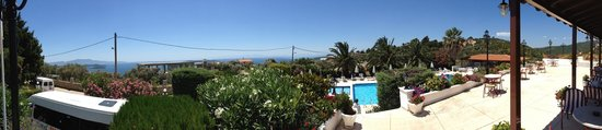 Paradise Hotel: Panoramic view from sea view to inland view