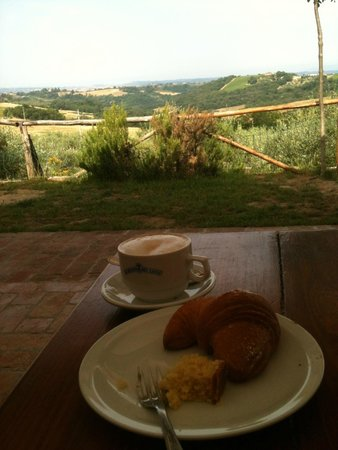 Agriturismo Montalbino: My breakfast view