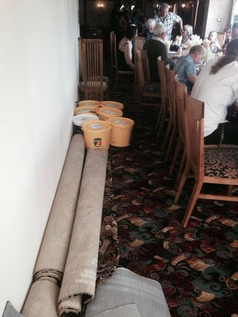 The Plough Inn: We had to move the tubs of floor sealant ourselves