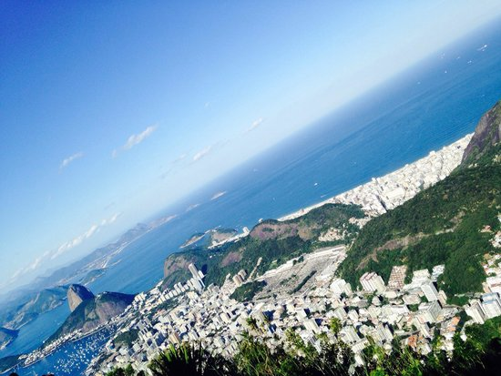 Statue du Christ Rédempteur : View from the top of the mountain! Spectacular