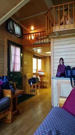 Worlds of Fun Village: Peak inside the cabin