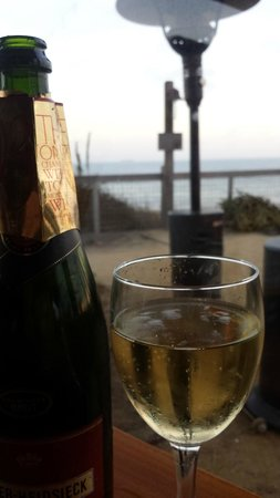Terranea Resort : some bubbly at sunset