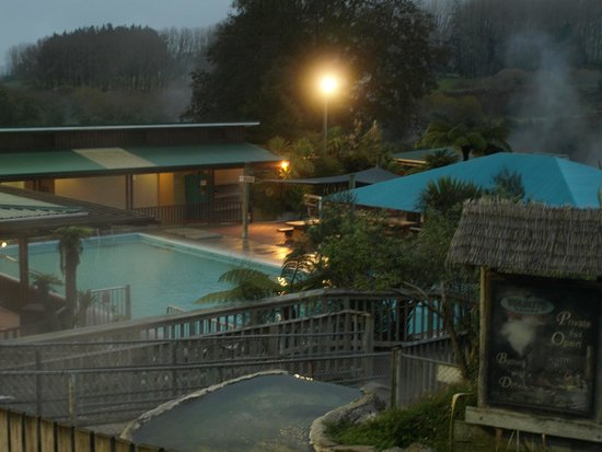 Waikite Valley Thermal Pools: pools from the terrace
