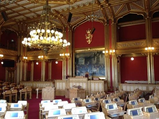 The Norwegian Parliament: grote zaal
