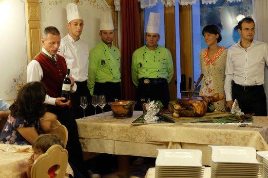 Family Hotel La Grotta: Descrizione piatto e vino abbinato