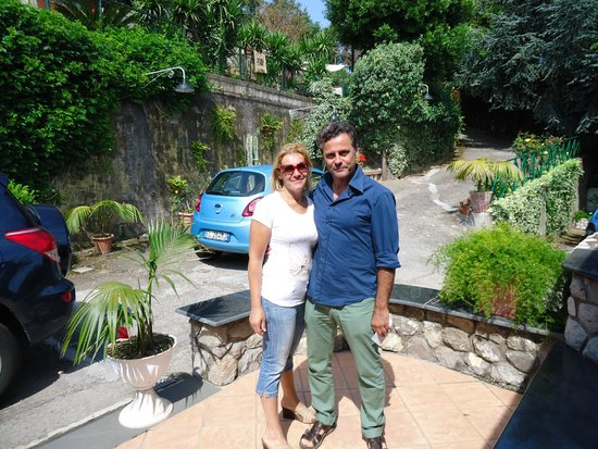 Villa Monica B&B: Monica and Pasquale