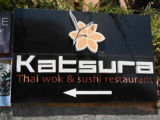 Katsura: L'insegna visibile dalla strada