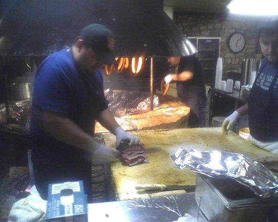 Salt Lick BBQ: Busy Man