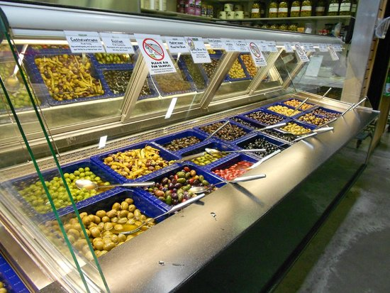 Jungle Jim's International Market: Just a portion of their huge olive buffet