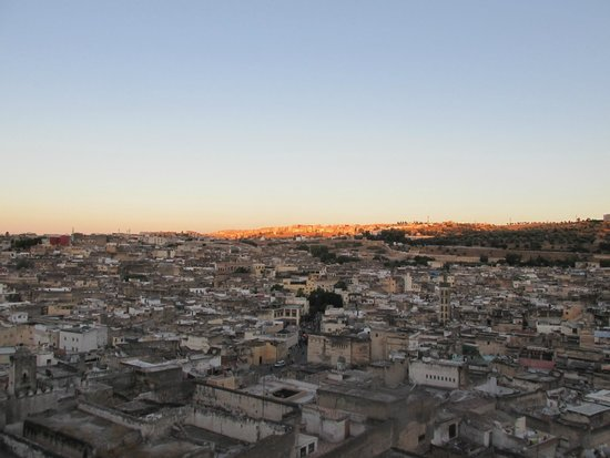 dar gnaoua: Evening view from the terrace