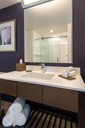 Residence Inn Los Angeles L.A. LIVE : Suite Bathroom