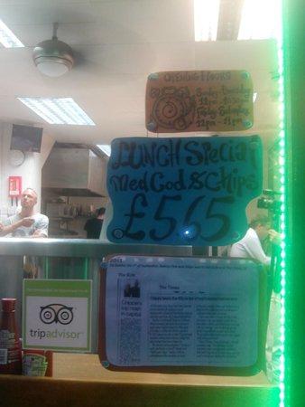 Baileys Fish and Chips: BUENA OFERTA DE MENU