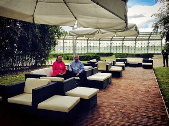 Hyatt Regency Paris Charles de Gaulle: Mr and Mrs Caddie, diamond members were the first guests to try our new terrace! So please do th