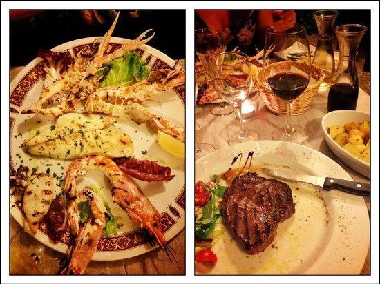 Ristorante Martini : Grilled seafood & grilled entrecote