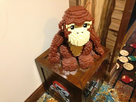 LEGOLAND California Hotel: Great Lego Monkey attached to Treasure Safe