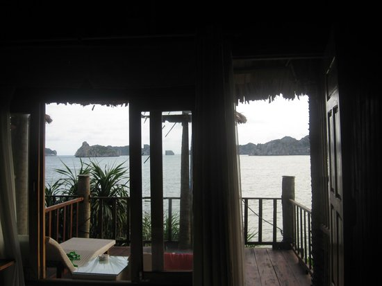 Monkey Island Resort: view of balcony from room.