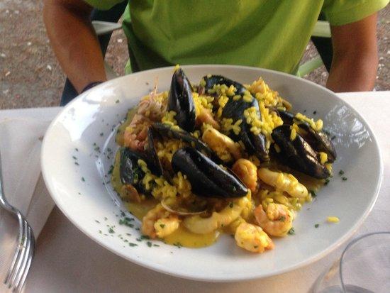 Da Nando : Riso allo zafferano e frutti di mare!