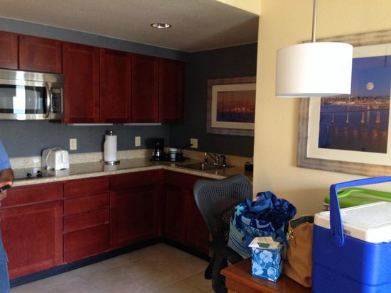 Homewood Suites by Hilton San Diego Airport - Liberty Station : Kitchen in room-Frig not in the photo