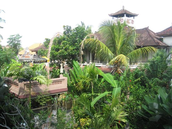 Frangipani Bungalows : view from balcony.