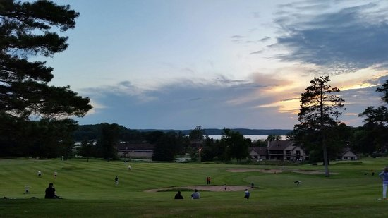Madden's on Gull Lake: Sunset before Fireworks - if you can spring for the high price of this resort, it's definitely w