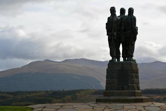 Commando Monument: commando memorial, spean bridge, scotland