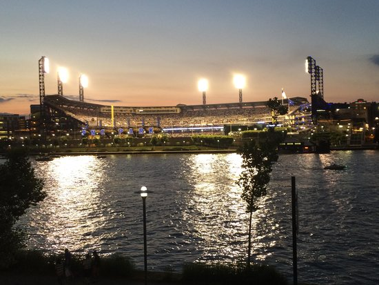PNC Park: View from downtown, across from the Allegheny river