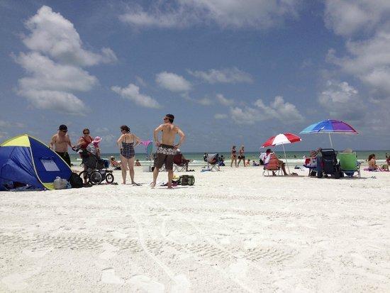Siesta Beach: Faixa de areia