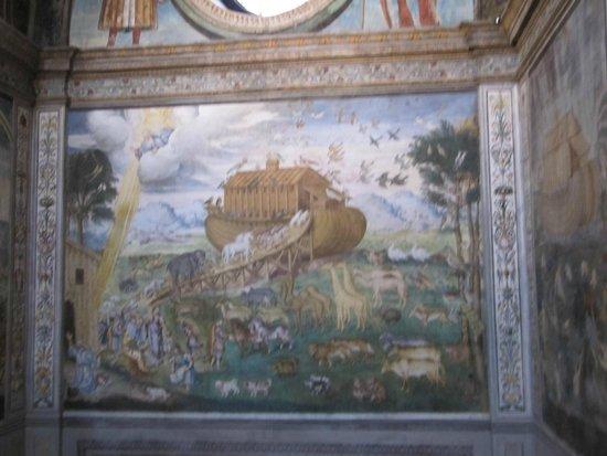 Chiesa di San Maurizio al Monastero Maggiore: Salita nell'Arca, de Aurelio Luini, 1556.