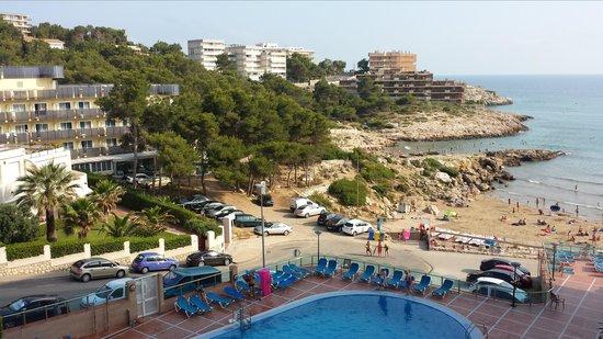 Cala Font Hotel: Gives anidea of the steep clinbs