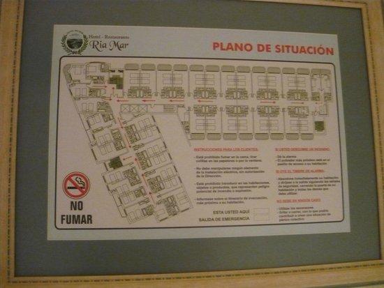Hotel Ría Mar: esquema del hotel ...