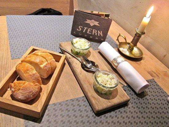 STERN Luzern: Cucumber and Goat Cheese Salad
