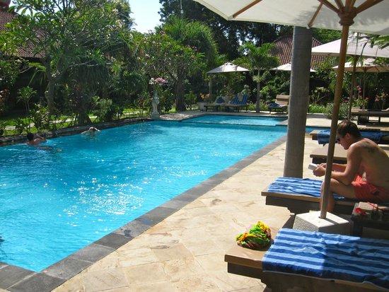 Tirta Sari Bungalows: pool area.