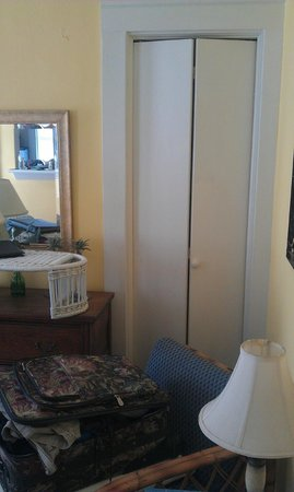 17th Street Inn: Can't access closet behind chair (Room #7)