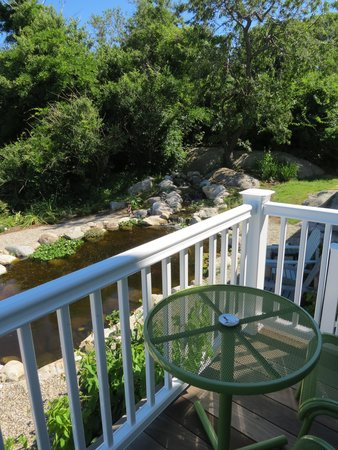 The Seafarer Inn: Porch overlooking Koi Pond