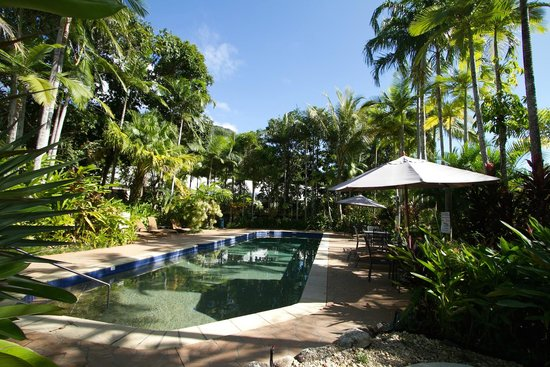 The Villas Palm Cove : The outdoor entertainment area & swimming pool