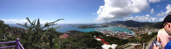 Skyride to Paradise Point: Great views of St Thomas