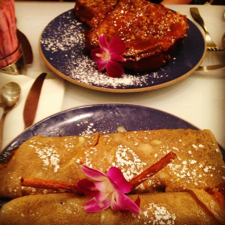 Norma's: Large portions of French Toast and Mango Crepes