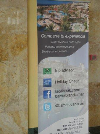 Occidental Jandia Playa : Cartel animado a utilizar Trip Advisor