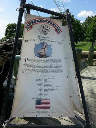 Pride of Baltimore II: Information sign