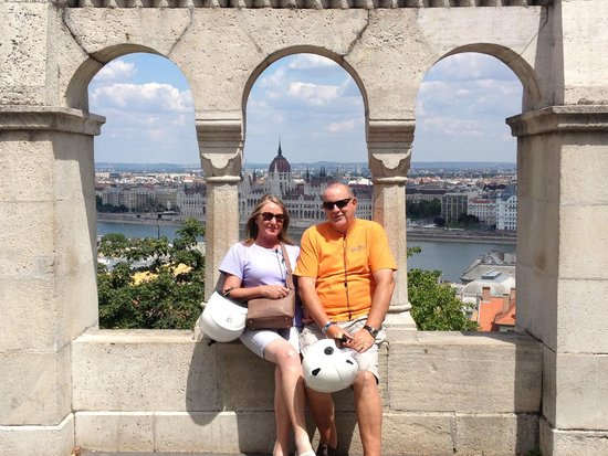 Budapest Scooter Tour : Judy and Mac.