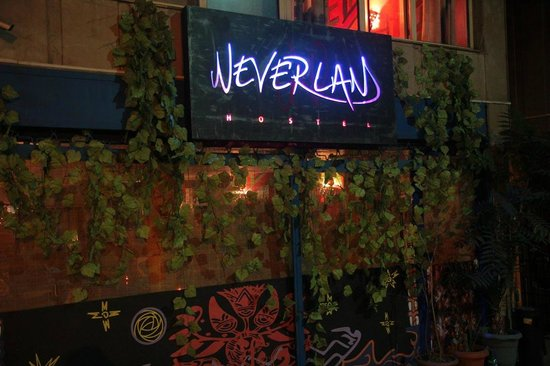 Neverland Hostel: entrance