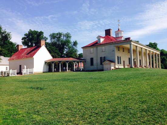 George Washington's Mount Vernon: The back of the mansion