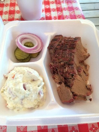 Andy's Hog Wild Barbecue: One meat plate with brisket