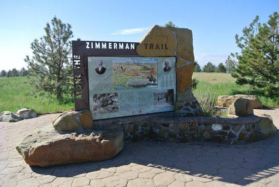 The Rimrocks: Zimmerman Trail sign