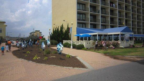 BEST WESTERN PLUS Oceanfront Virginia Beach: L'hôtel et le resto sur le board walk
