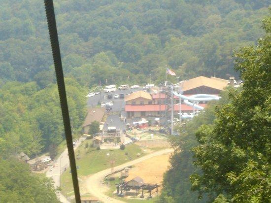 Ober Gatlinburg Amusement Park & Ski Area: A view down on Ober from the alpine ski lift.