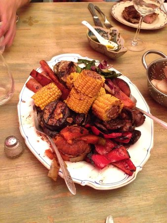 Adentro Dinner Club: Grilled vegetables