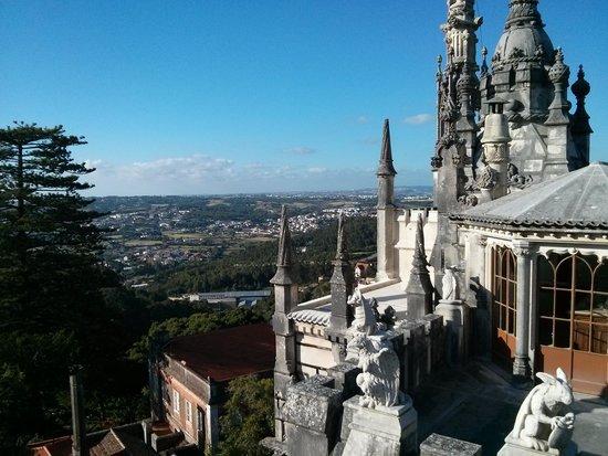 Quinta da Regaleira: castle overlooking the town