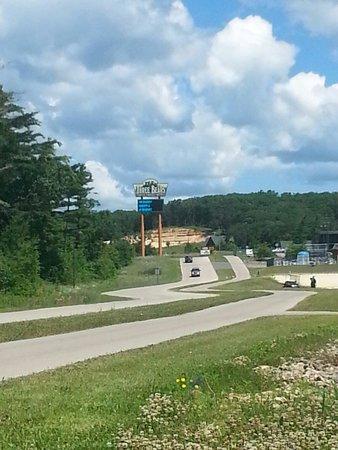 The Road to Three Bears Resort/Lodge.